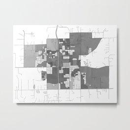 Battle Ground hand drawn map Metal Print