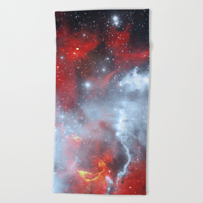 Fire to the Stars Beach Towel