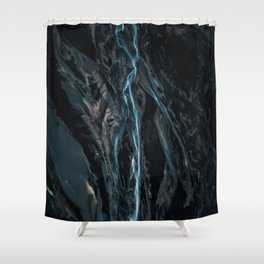 Abstract River in Iceland - Landscape Photography Shower Curtain