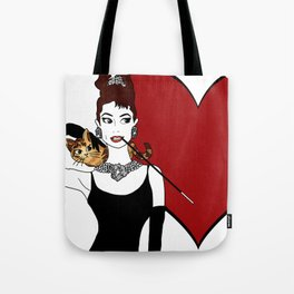 love from holly and cat Tote Bag