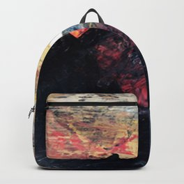 Arapahoe National Forest [2]: a colorful abstract mixed media mountain range Backpack