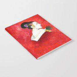 Red Wall Geisha Notebook