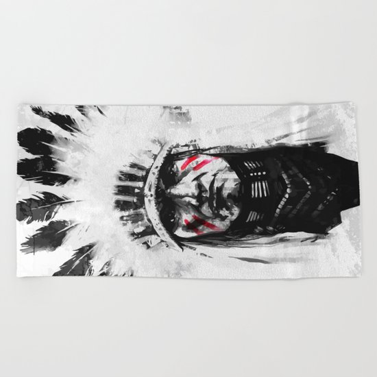 Native American Beach Towel