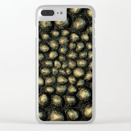 Neo Gold Sea Shell Clear iPhone Case