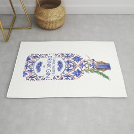 Save Water Drink Gin Rug