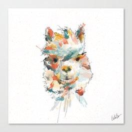 + Watercolor Alpaca + Canvas Print