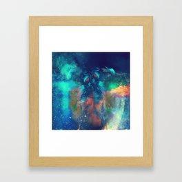 Cosmic Twins Framed Art Print