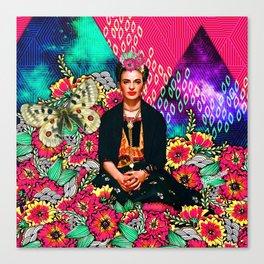 Galaxy Frida Canvas Print