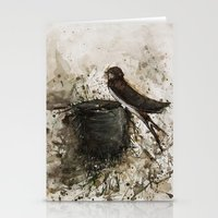 sparrow Stationery Cards featuring Sparrow by Andrei Clompos