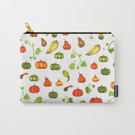 Autumn Pumpkin and Gourd Pattern Carry-All Pouch