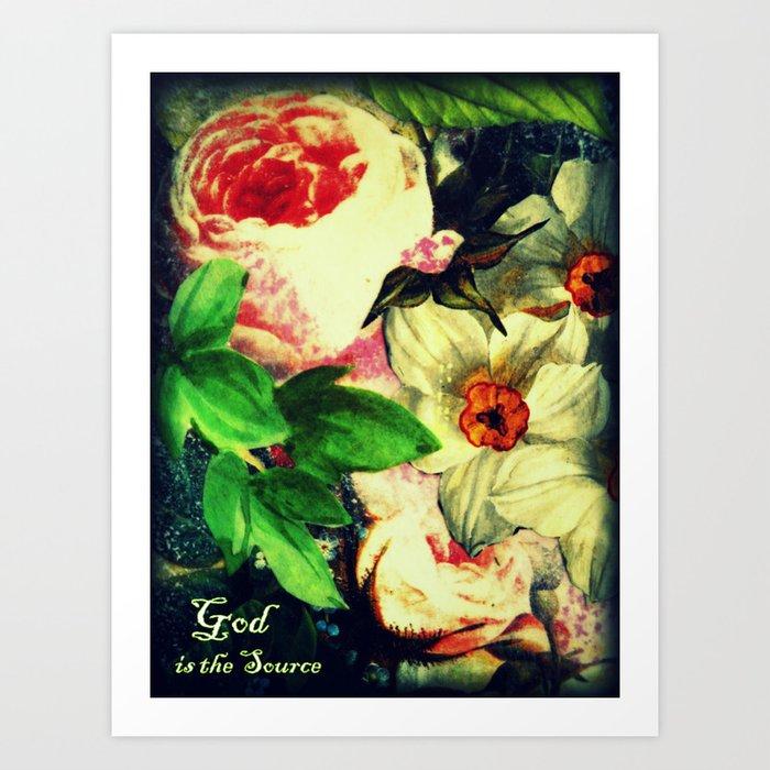 God is the Source Art Print