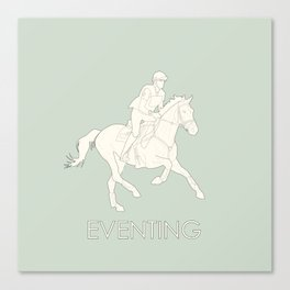 Eventing in green Canvas Print