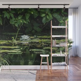 Lone Lily Pad Wall Mural