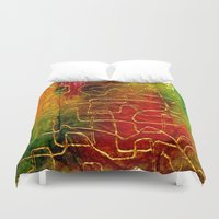 labyrinth Duvet Covers featuring Labyrinth by Chicca Besso