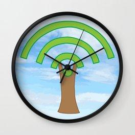 Tree of WiFi Wall Clock