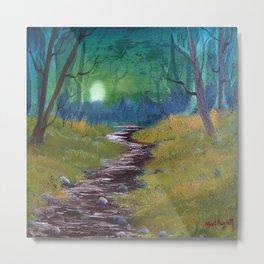Moonlit path Metal Print
