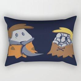 Flint and Rubble Rectangular Pillow