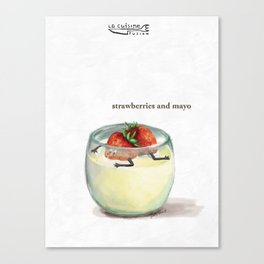 La Cuisine Fusion - Strawberries with Mayo Canvas Print