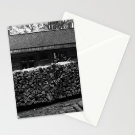 Woodcutter's hut, black and white photography Stationery Cards