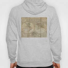 Vintage Map of The World (1799) 2 Hoody