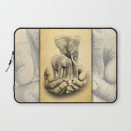 Refuge Elephants Drawing Laptop Sleeve
