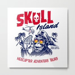 Skull Island Helicopter Adventure Tours Metal Print