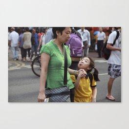 Tongue Girl Canvas Print