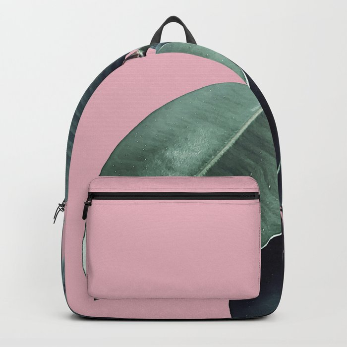 Ficus Elastica #14 #CoralBlush #decor #art #society6 Backpack