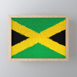 Extruded flag of Jamaica Framed Mini Art Print