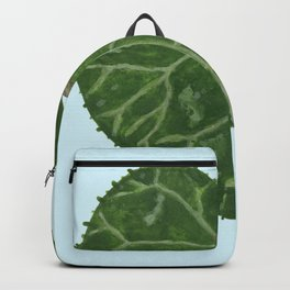 Cyclamen leaf - light blue Backpack