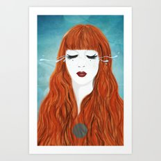 Secret tears Art Print