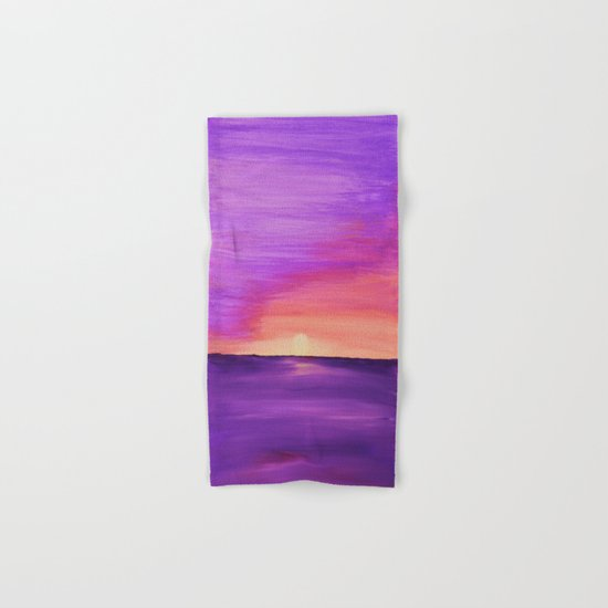 Purple Sunset Hand & Bath Towel