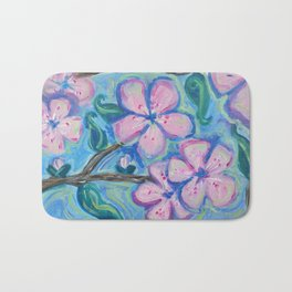 Cherry Blossom Composition #1 Bath Mat