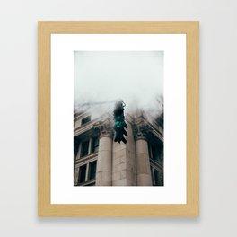 Steam in the city Framed Art Print