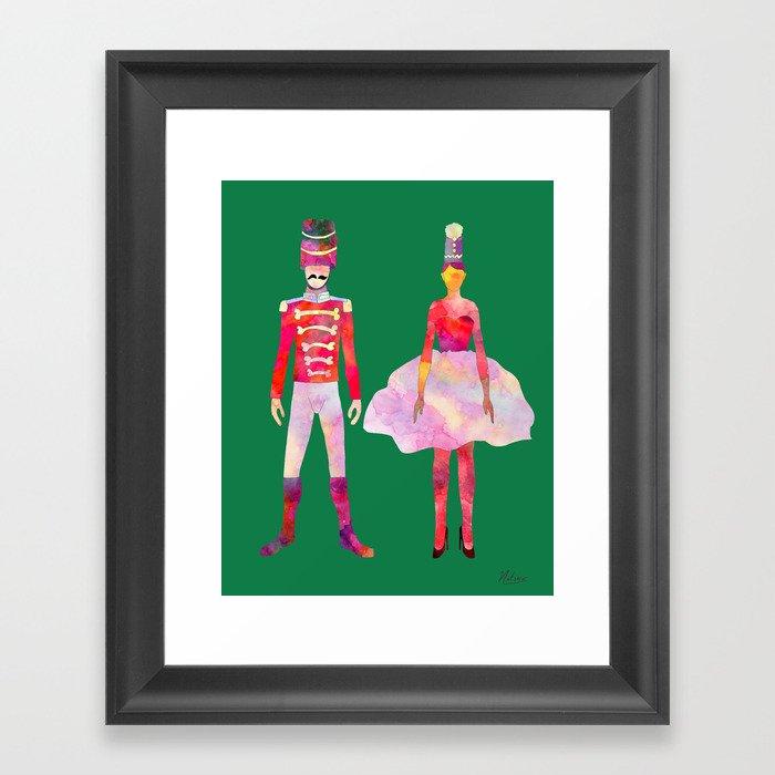 Nutcracker Ballet - Candy Cane Green Gerahmter Kunstdruck