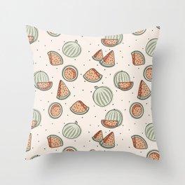 Watermelon Seamless Pattern Throw Pillow