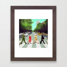 A(llen)bby road - TLV Framed Art Print