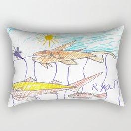 Fish Bait Rectangular Pillow