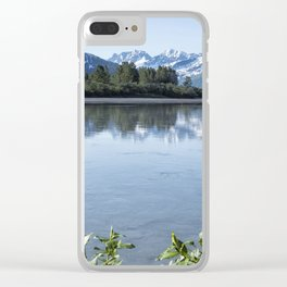 Placer River at the Bend in Turnagain Arm, No. 1 Clear iPhone Case