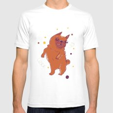 Happy Fall, Dogs! (Pug) MEDIUM Mens Fitted Tee White