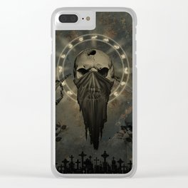 Creepy skull Clear iPhone Case