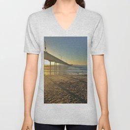 Ocean Beach Pier Unisex V-Neck