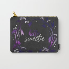 Hello Sweetie, Galaxy Wreath Dark Carry-All Pouch