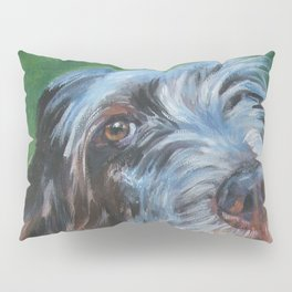 Spinone Italiano dog art portrait from an original painting by L.A.Shepard Pillow Sham