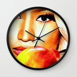 Nicki Eyes Wall Clock