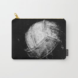 Black and white volleyball print work vs 1 Carry-All Pouch