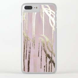 Gold Drips Clear iPhone Case