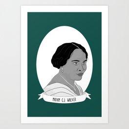 Madam C.J. Walker Illustrated Portrait Art Print