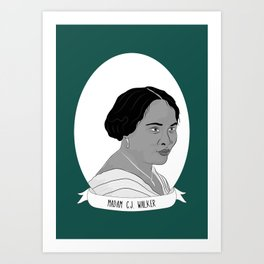 Madam C.J. Walker Illustrated Portrait Art Print