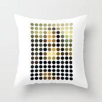 mona lisa Throw Pillows featuring Mona Lisa by Gary Andrew Clarke